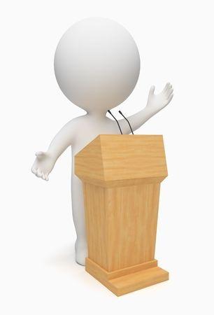 Animated character public speaking: public speaking coaching
